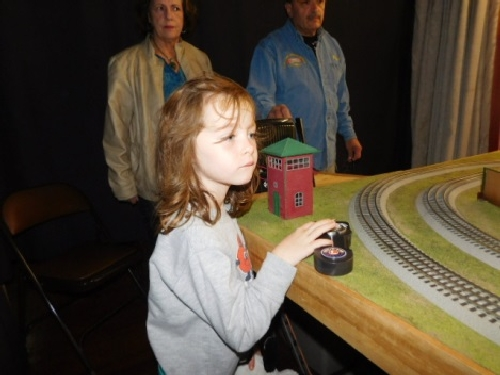 The modular layout set up by the Nassau Lionel Operating Engineers Lionel Club Ambassador captivated visitors with all the excitement