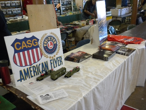 Showing Lionel S Gauge Army Cars at the Great Midwest Train Show on September 11 2016 at Chicagoland Association of S Gaugers Lionel Club Ambassador table
