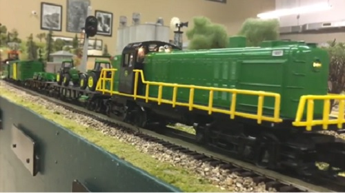 The Wichita Toy Train Club  Lionel Club Ambassador reviews the Lionel John Deere RS-3 LionChief Remote Control Freight Set on video