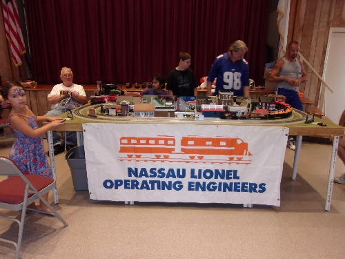 Layout set up by the Nassau Lionel Operating Engineers Lionel Club Ambassador at the Bellmore Presbyterian Church in Bellmore New York September 2016 Event