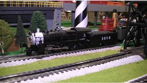 Image from the product review video of the 6-11117 Santa Fe Atlantic 4-4-2  by the Chicagoland Lionel Railroad Club Lionel Club Ambassador