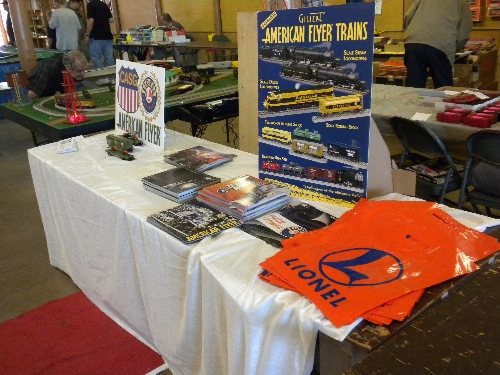Chicagoland Association of S Gaugers Lionel Club Ambassador showed Lionel S Gauge Cars and distributed Lionel Catalogs at the Great Midwest Train Show September 11 2016
