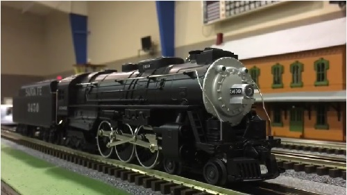 Image of the Santa Fe LionChief Plus Hudson Diesel Locomotive 6-82965 from the Lionel Club Ambassador Wichita Toy Train Club Product Video Review