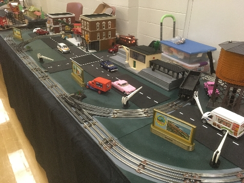 This layout was set up to view at the November 2016 Train Meet Lionel Club Ambassador Toy Train Operating Society  Southern Pacific Division