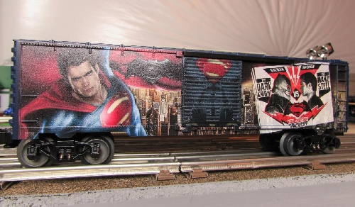 Image fromForm the Chicagoland Lionel Railroad Club Lionel Club Ambassador Man of Steel Boxcar Review 6-83780