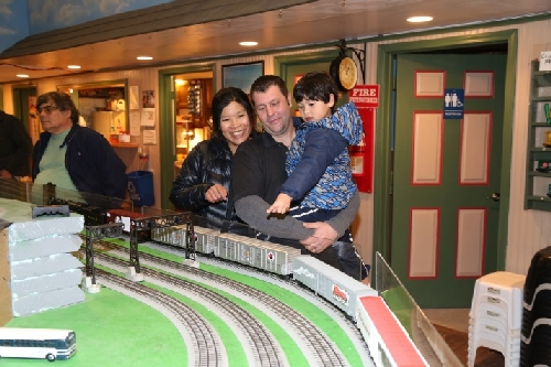 The start of a love afair with Lionel Trains at CLRC Open House March 2016
