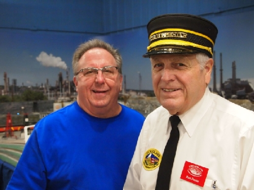 Members enjoy spending time with guests at the CLRC Lionel Club Ambassador Open House in October 2016