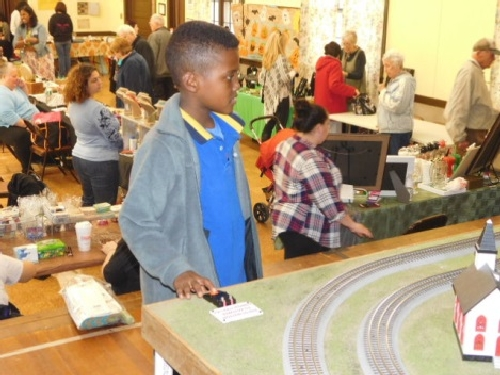At the Winter Craft Fair kids were able to control functions on the operating layout set up by the Nassau Lionel Operating Engineers Lionel Club Ambassador