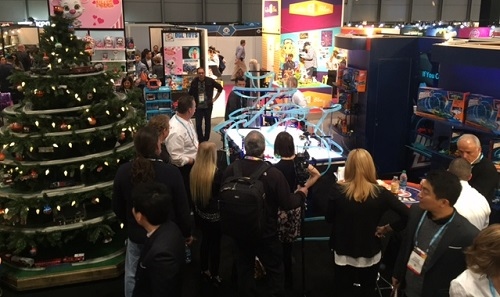 Lots to see at Lionels booth at the 2016 Toy Fair in New York
