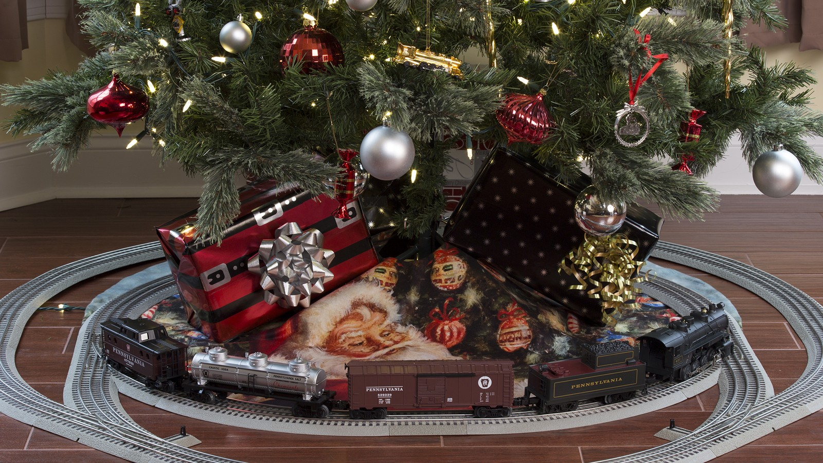 under the tree - Train For Around Christmas Tree