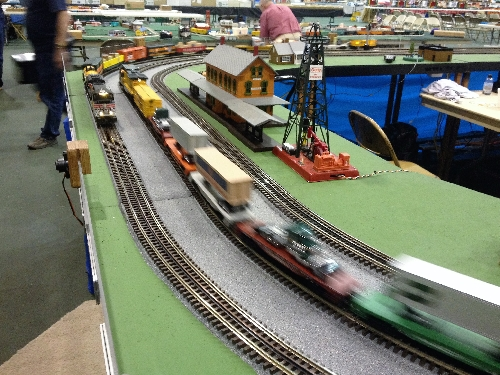The Wichita Toy Train Club a Lionel Club Ambassador at the Arkansas City Train Show November 5th and 6th 2016 had a running layout with accessories