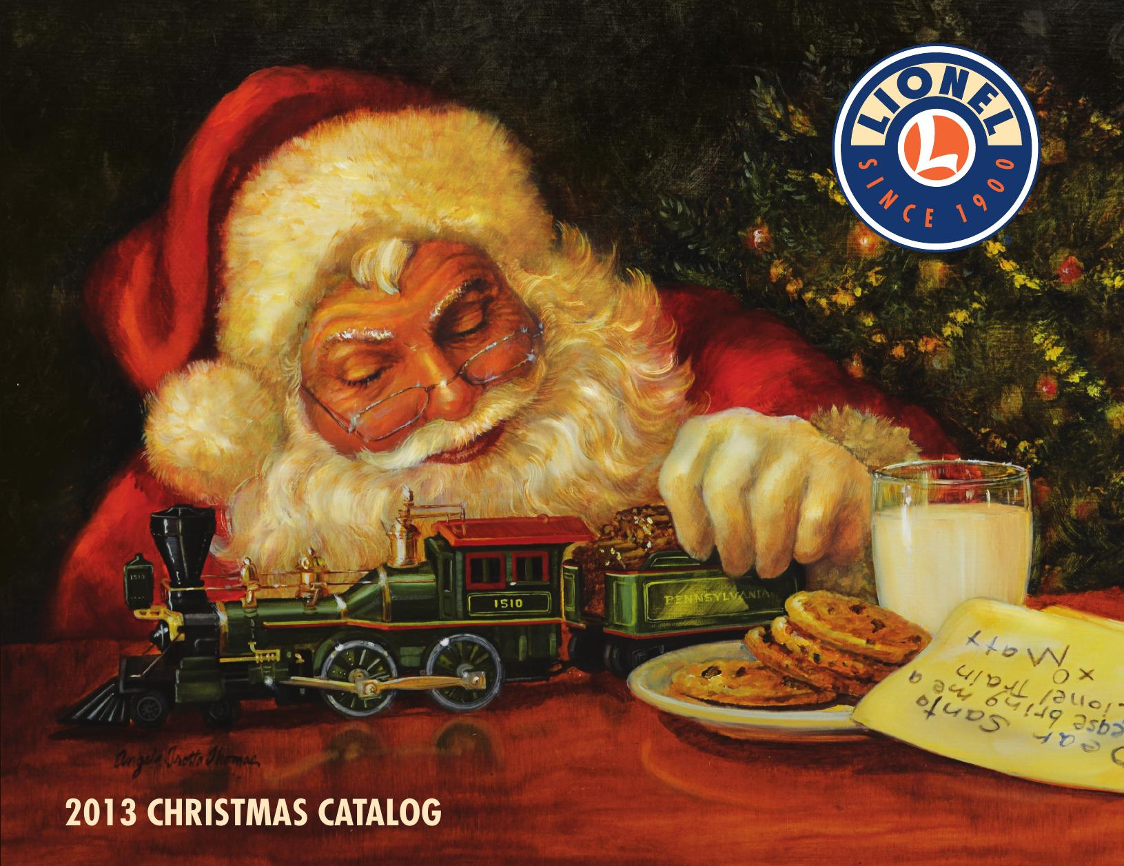 Christmas Catalogs.Train Gifts Collectibles The Lionel Trains Catalog