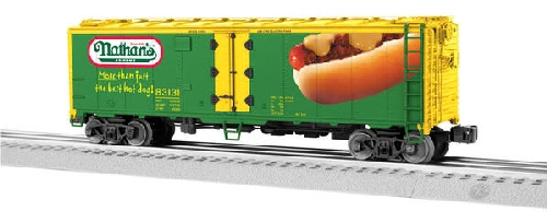 Lionel Club Ambassador New Jersey Hi-Railers shows the 6-58567 NLOE Nathans Scale Steel-Sided Reefer 83131