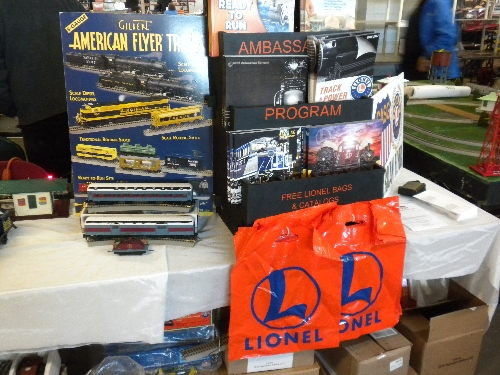 Chicagoland Association of S Gaugers a Lionel Club Ambassador set up a table at the Great Midwest Train Show at DuPage County Fairgrounds