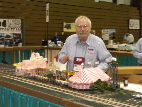 CASG Lionel Club Ambassedor image of layout at High Wheeler 16 at Harper College in Palatine IL