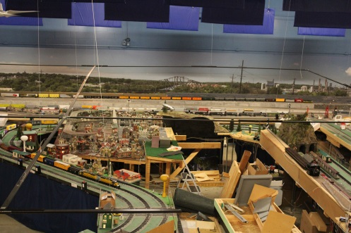 View Lionel Ambassador Chicagoland Lionel Railroad Club modular layout built in 1994 final days at its last Open House