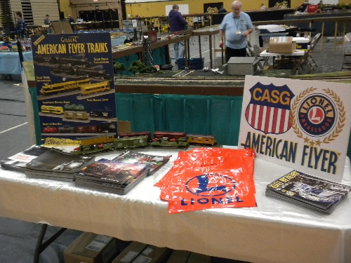 On October 8-9 2016 at the Southland Train Show J L Richardson HS in Oak Lawn I Lionel Club Ambassador Chicagoland Association of S Gaugers Table display