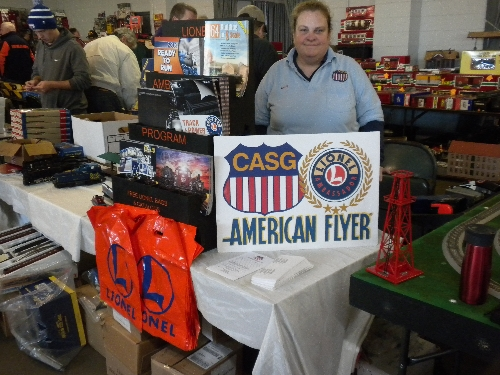 The  CASG a Lionel Club Ambassador set up a table at the November Great Midwest Train Show to show off American Flyer trains
