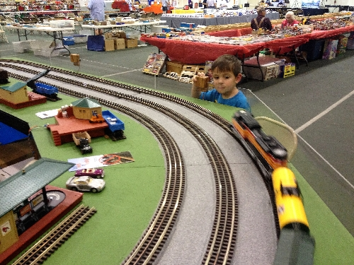 The Wichita Toy Train Club a Lionel Club Ambassador had kids stopped to see the layout in action at the Arkansas City Train Show