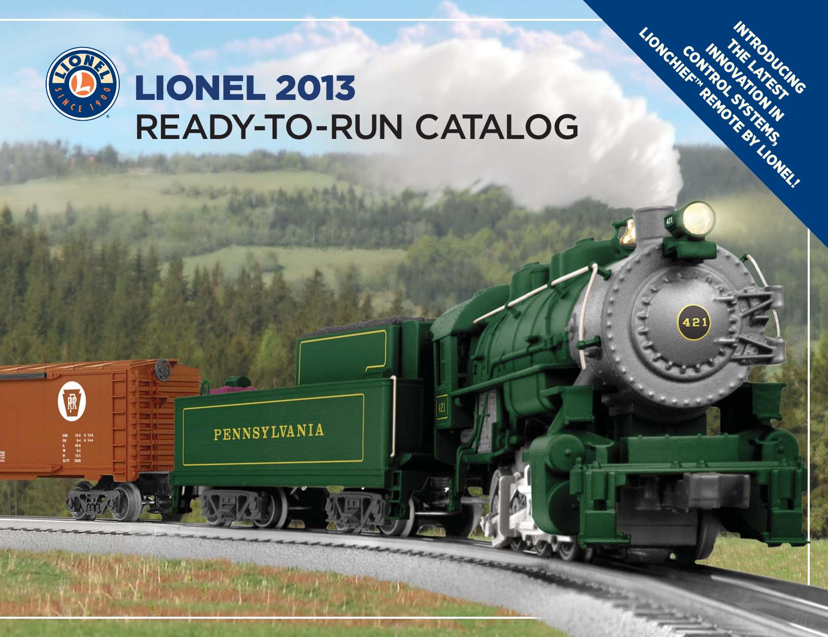 Lionel Catalogs - Ready To Run 2013