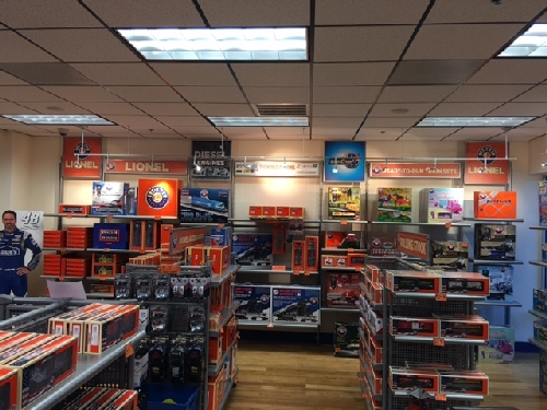 New Jersey Hi-Railers Lionel Ambassador Club visit Lionel in Concord NC and find the shelves stocked with Trains and Nascar in the Lionel Retail Store