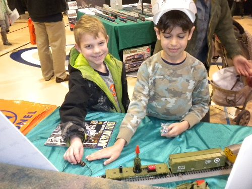 CASG Lionel Club Ambassedor capture the love of trains at an early age