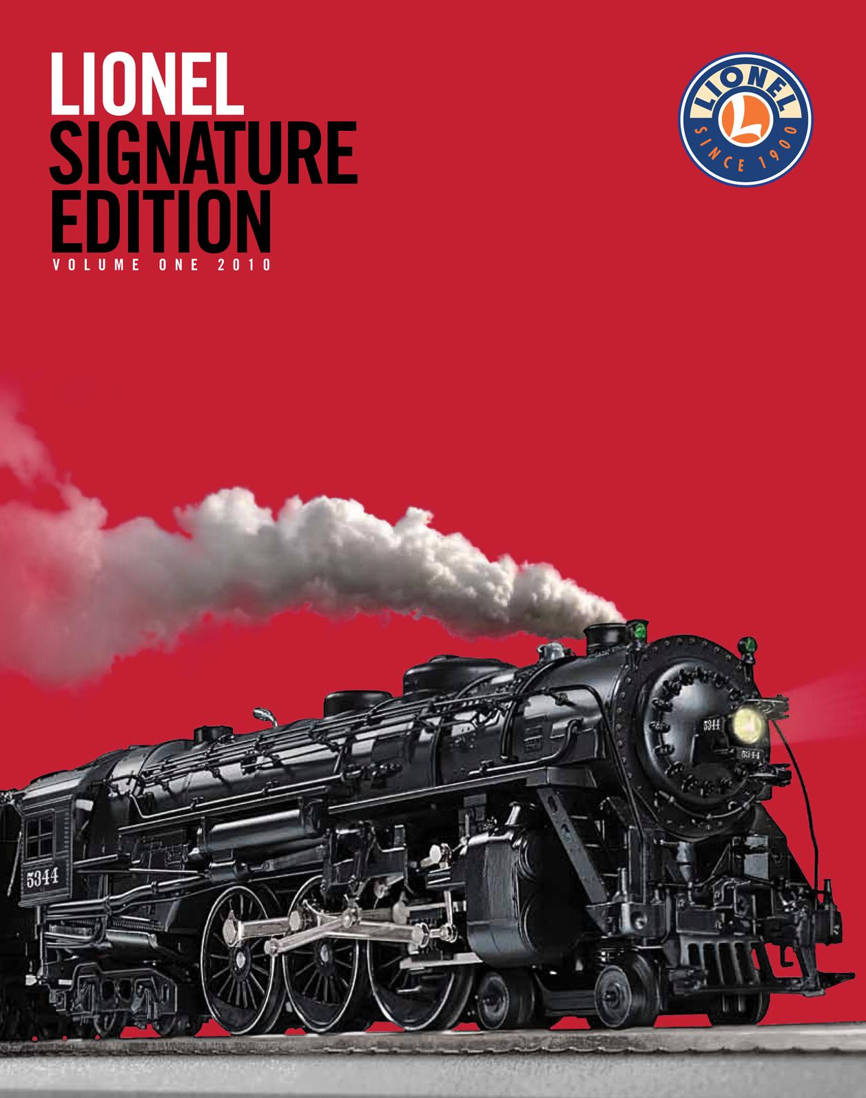 Lionel Catalogs - Signature Edition 2010