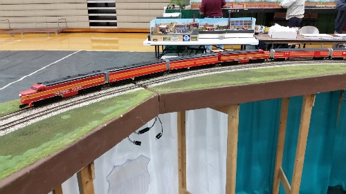 In Oak Lawn IL the Lionel Club Ambassador CASG ran trains on the Layout at the Southland Train Show at J L Richardson HS On October 8-9 2016