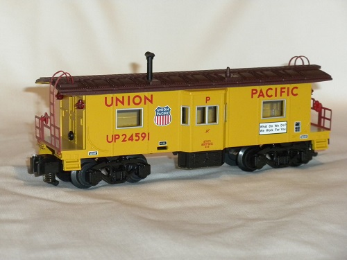 Image of Lionels American Flyer Union Pacific Bay Window Caboose 6-47971 in the video review by the Lionel Club Ambassador Chicagoland Association of S Gaugers