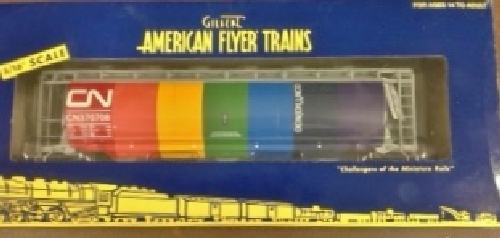 As show in the review by the Lionel Club Ambassador Wichita Toy Train Club The Canadian National 6-48639 Hopper comes in an American Flyer Trains window box
