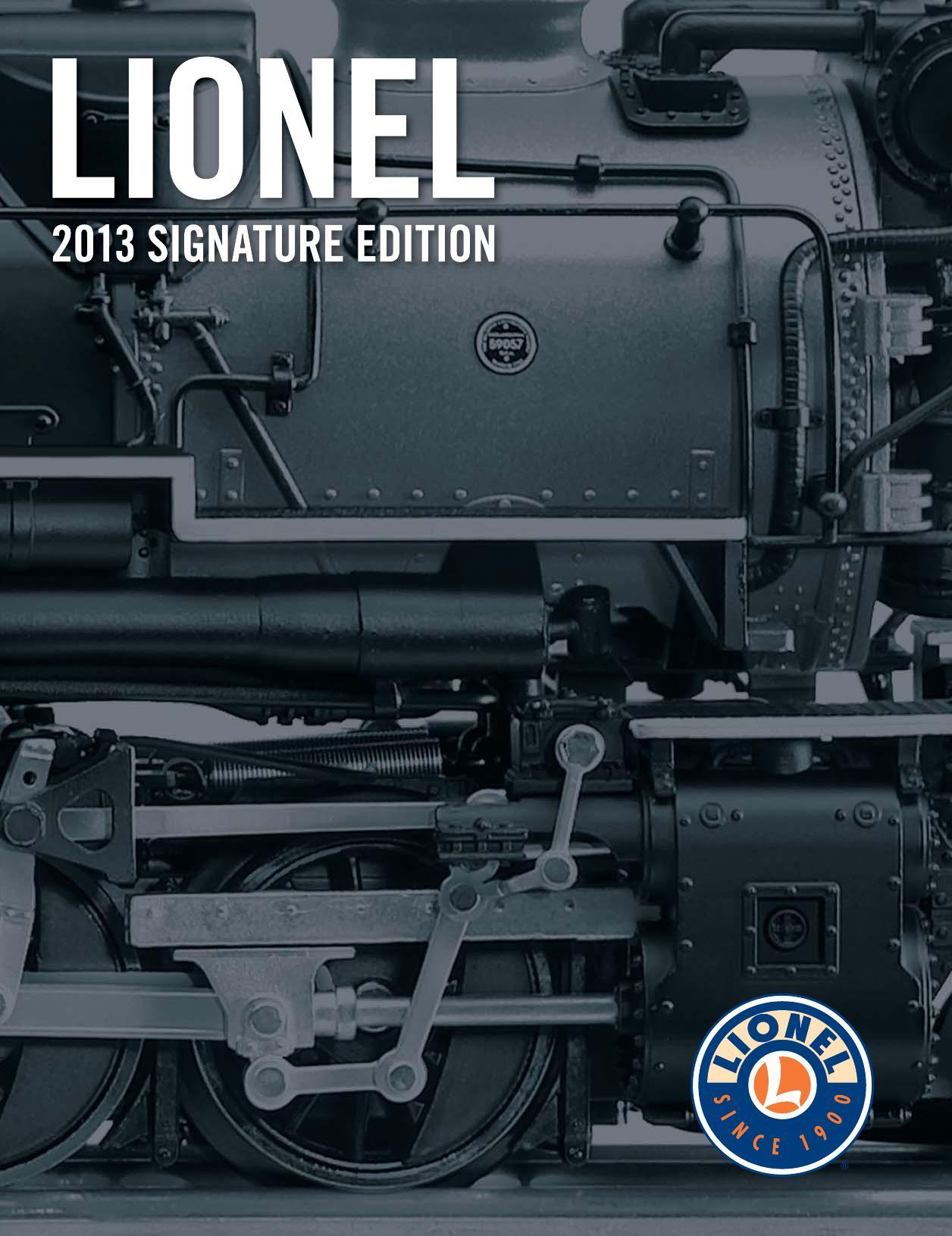 Lionel Catalogs - Signature Edition 2013