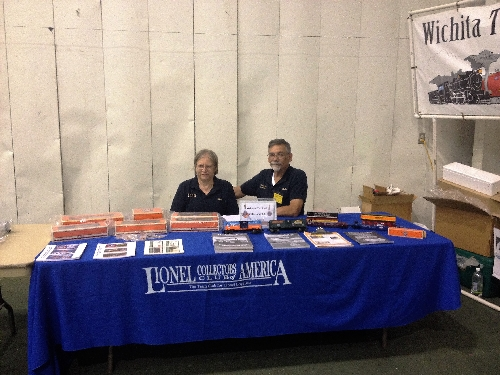 At the Arkansas City Train Show November 5th and 6th 2016 the Lionel Collectors Club of America with the Wichita Toy Train Club a Lionel Club Ambassador had representatives ready to help at the Arkansas City Train Show