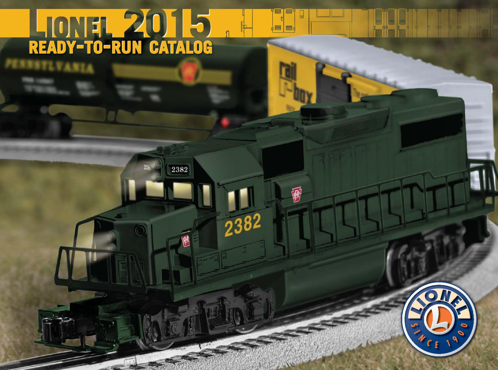 Lionel Catalogs - Ready To Run 2015