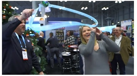Good Morning America comes to the Lionel Booth at Toy Fair 2016 in New York