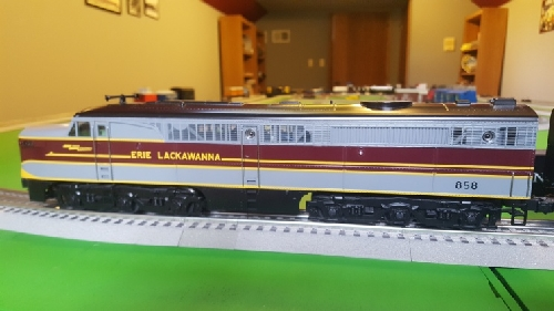 CLRC Lionel Club Ambassador image of Lackawanna Alco PA 858 in the product Review on Lionel Erie Lackawanna Alco PA1 Diesel and Passenger Car Sets