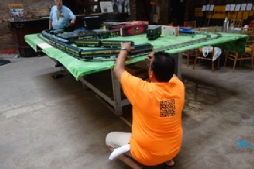 June 2016 BO Capitol Limited is being set up for running at the Chicagoland Lionel Railroad Club Lionel Club Ambassador