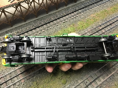 The underside details of the Nathans 100yrs Anniversary Reefer 83163 6-58266 from the review by NLOE Lionel Club Ambassadors