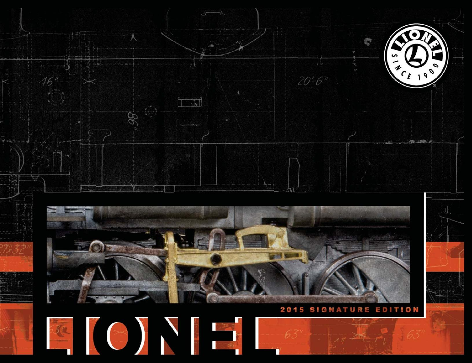 Lionel Catalogs - Signature Edition 2015