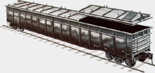 Chicagoland Lionel Railroad Club Lionel Ambassador Club  Prototype Drawing of the Lionel Covered Gondola 6-81891