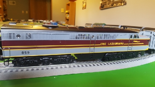 Chicagoland Lionel Railroad Club CLRC Lionel Club Ambassador image of Lackawanna Alco PA 859 in the product Review on Lionel Erie Lackawanna Alco PA1 Diesel and Passenger Car Sets