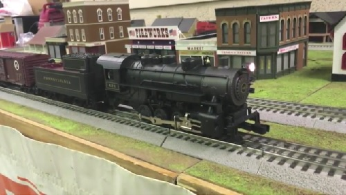 From Nassau Lionel Operating Engineers Lionel Club Ambassadors video review of the Pennsylvania Flyer LionChief Remote Control 0-8-0 Steam Freight Set 6-30233