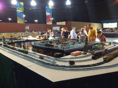The GGAFC Lionel Club Ambassador set up their modular layout at Toy Train Operating Society National Convention