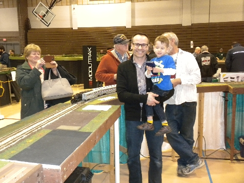 Family Fun with CASG Lionel Club Ambassedor  at High Wheeler 16 at Harper College in Palatine IL