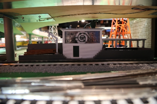 On the layout is the Lionel operating Sawmill with Sound as reviewed by the Chicagoland Lionel Railroad Club Lionel Club Ambassador