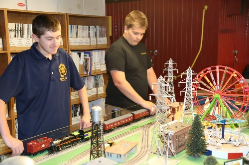 The Boy Scouts attend the Chicagoland Lionel Railroad Club Lionel Club Ambassador Open House July 9 2016