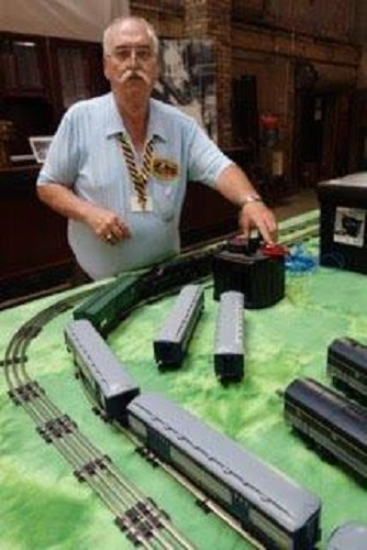 June 2016 Kevin Barry testing power at the Chicagoland Lionel Railroad Club Lionel Club Ambassador