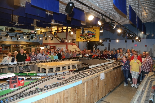The winners of the 2015-2016 Lionel Ambassador Club Chicagoland Lionel Railroad Club  gather with Howard Hitchock Lionel President