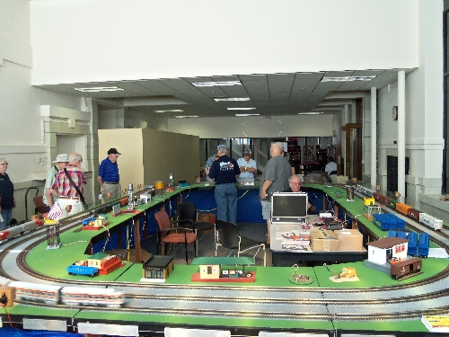 complete layout with accessories at the Wichita Toy Train ClubClub Ambassadors to Lionel July 2016 in Wichita KS