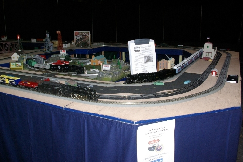 The modular layout at TTOS National Convention set up by the Golden Gate American Flyer Club a Lionel Club Ambassador