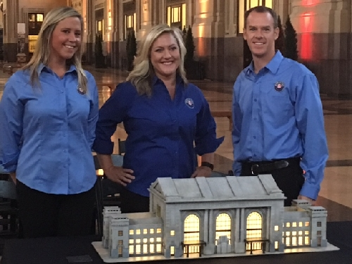 The Lionel Team was present as The LCCA held a press conference at the Union Station in downtown Kansas City on July 27 where they unveiled and donated a model of the Union Station